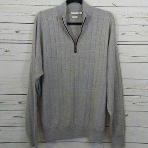 Peter Millar merino wool half zip sweater